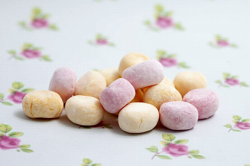 Rhubarb and custard bonbons - 250g